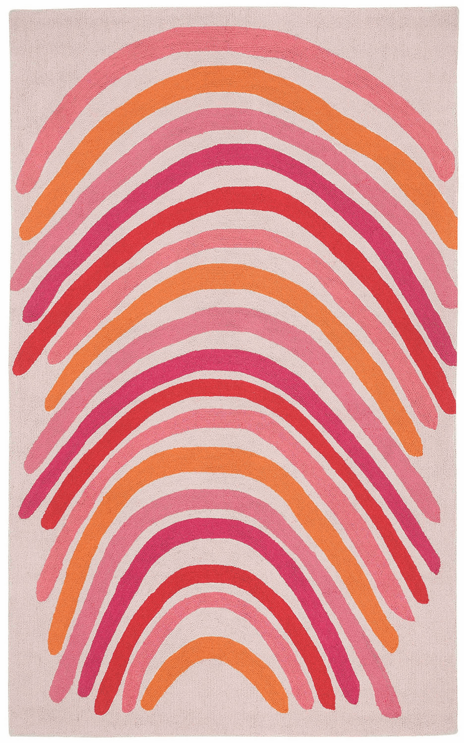 Loop Hooked Blush Multi Rug