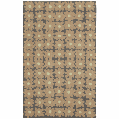 Loop Hooked Light Pink Rug