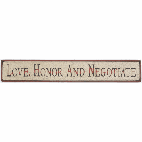 Love, Honor and Negotiate