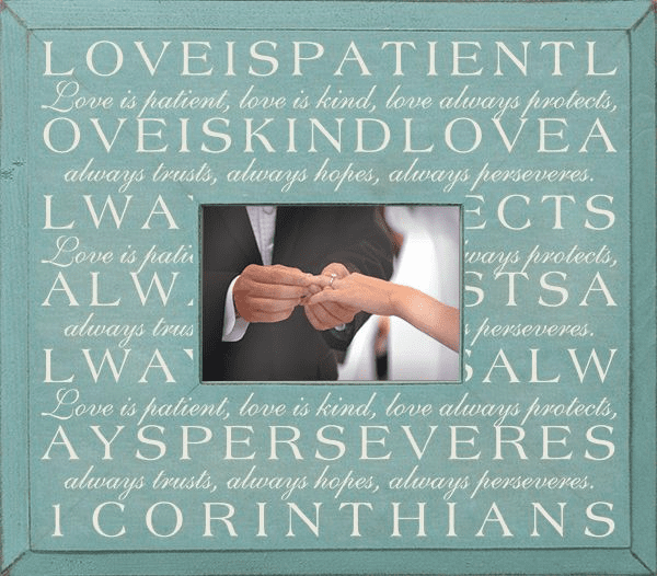 Love Is Patient...First Corinthians Poem Frame
