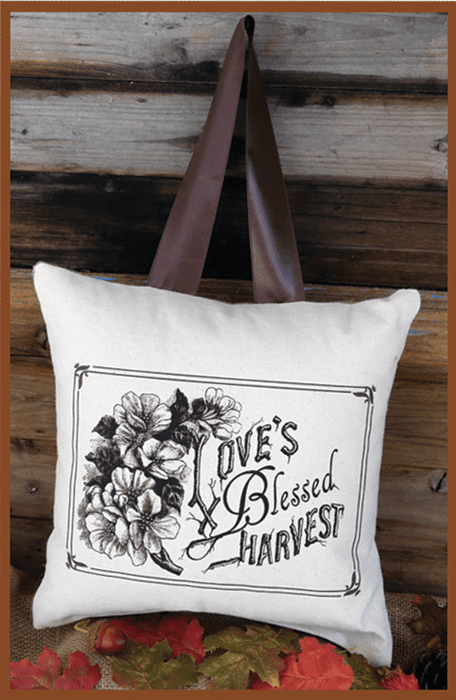 Love's Blessed Harvest Thanksgiving Pillow, 10in x 10in