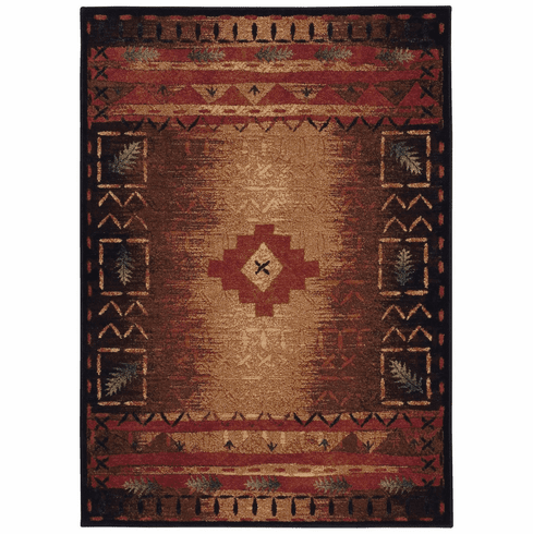 Machine Woven Coffee Multi Rug
