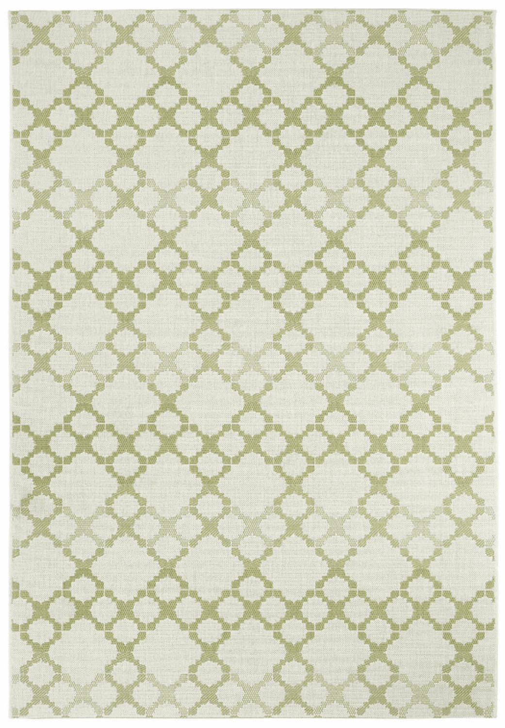 Machine Woven Green Rug