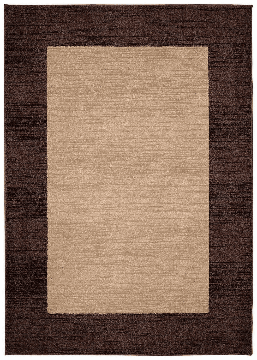 Machine Woven Light Tan Rug