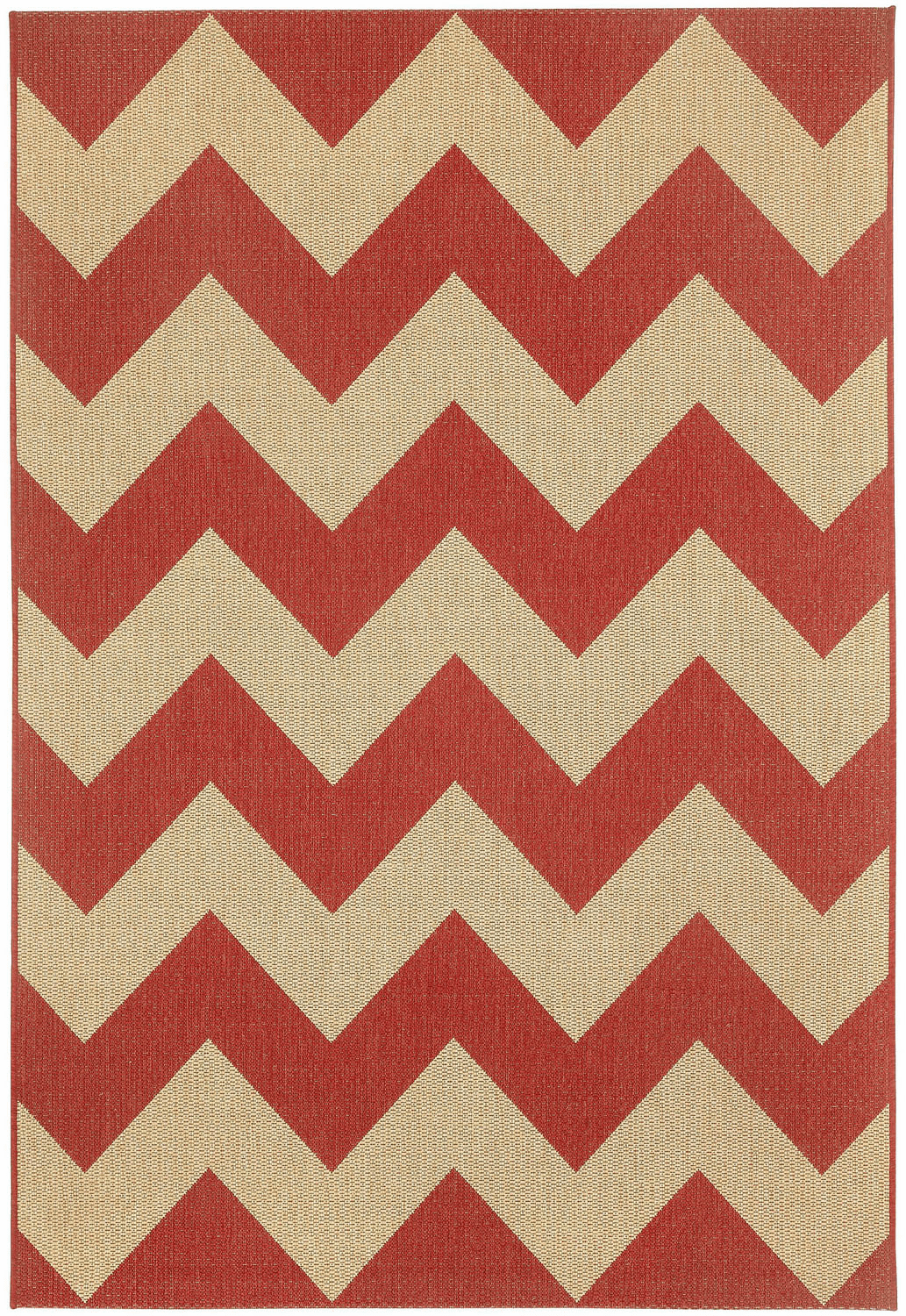 Machine Woven Red Pepper Rug