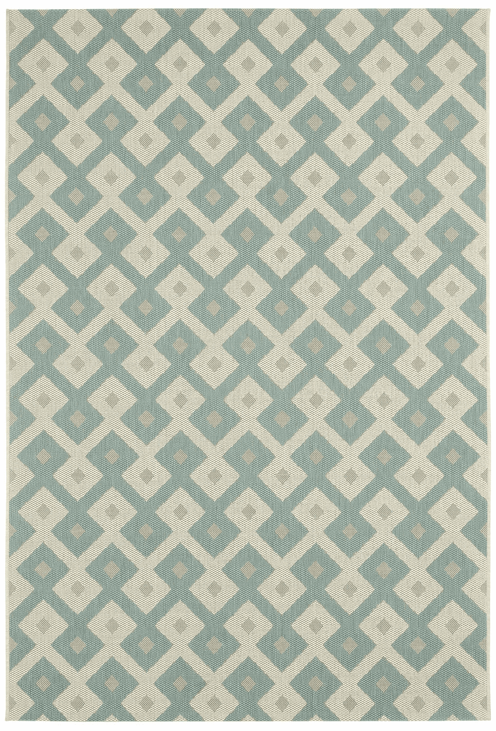 Machine Woven Resort Blue Rug