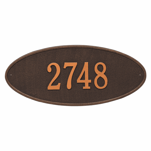 Madison Oval Estate Wall One Line Plaque in Oil Rubbed Bronze