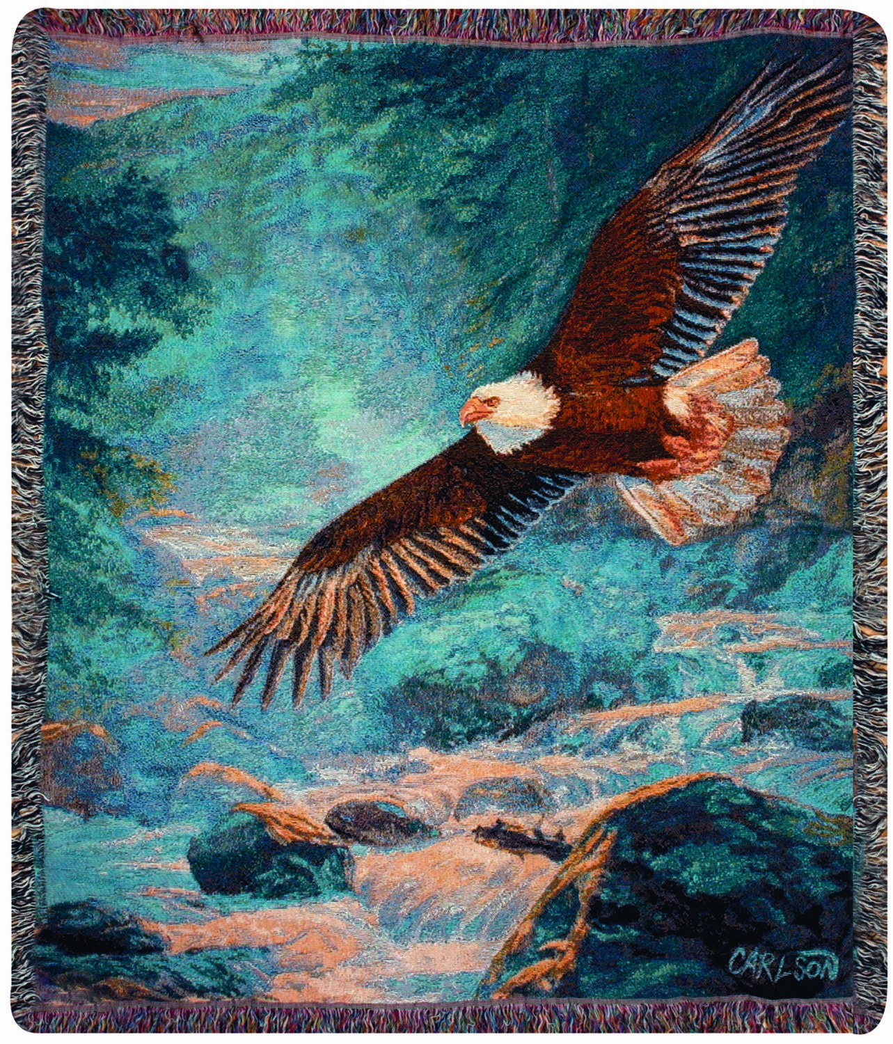 Majestic American Eagle Tapestry Throw