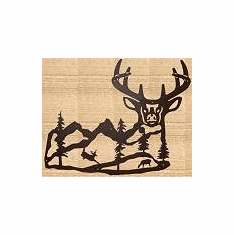 Majestic Deer Silhouette Wall Decor (Small) - Deer Decoration