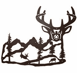 Majestic Deer Wall Silhouette (Large)