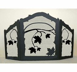 Maple Leaf Arched or Straight Fireplace Screen