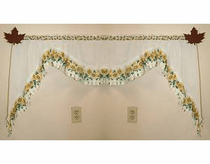 Maple Leaf Curtain Rod Holder Pair
