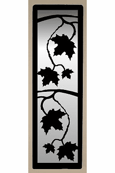 Maple Leaf Large Accent Mirror Wall Art
