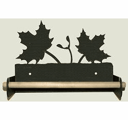 Maple Leaf Paper Towel Holder with Wood Bar