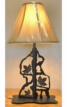Maple Leaf Scenery Style Table Lamp