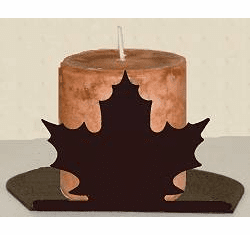 Maple Leaf Silhouette Candle Holder