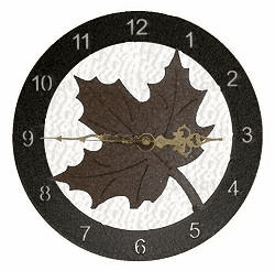 Maple Leaf Smooth Edge Rustic Clock