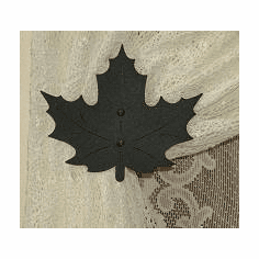 Maple Leaf Swag Holder Pair