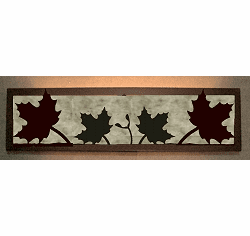 Maple Leaf Valance Style Bath Vanity Light