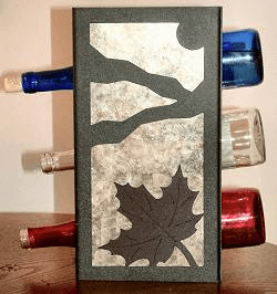 Maple Leaf Wine Bottle Rack