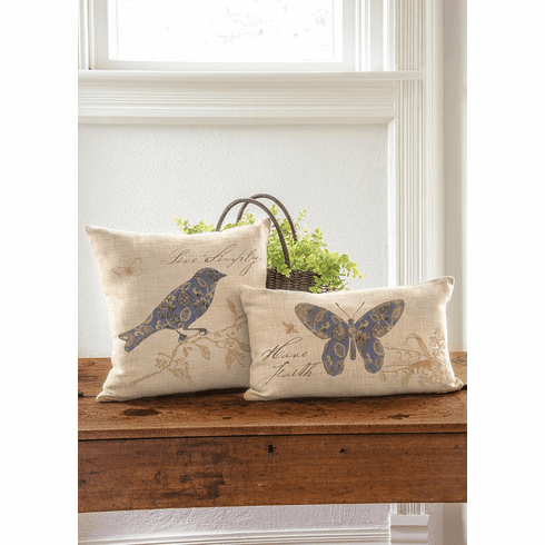 Meadow Song Live Simply - Bird Pillow
