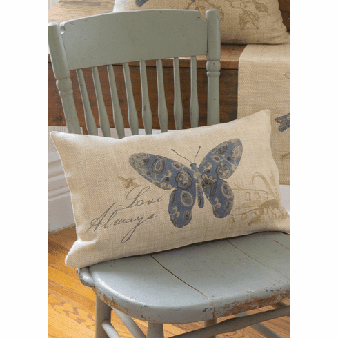 Meadow Song Love Always - Butterfly Pillow