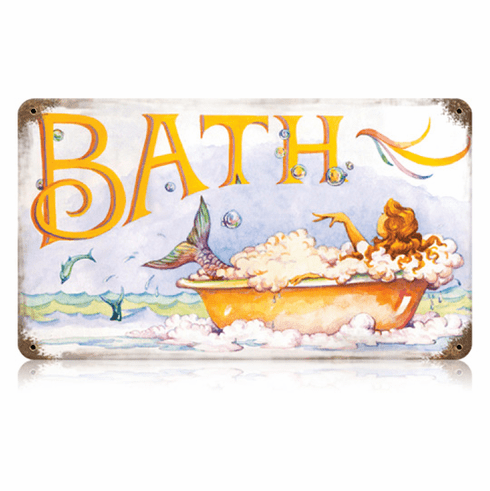 Mermaid Bath Sign - Mermaid Decoration
