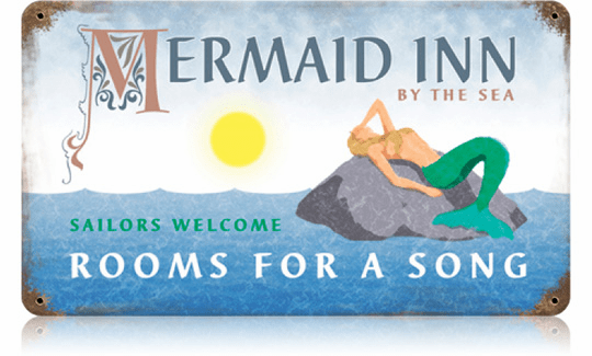 Mermaid Inn Rooms For A Song - Hotel Sign