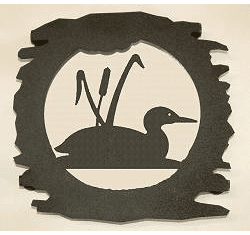 Metal Loon with Cattails Trivet