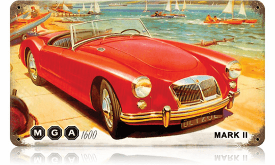 MG Sportscar Sign - Sports Coupe Sign