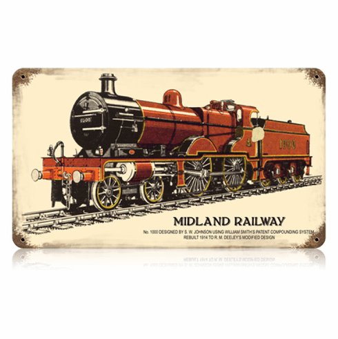 Midland Railway Engine Sign