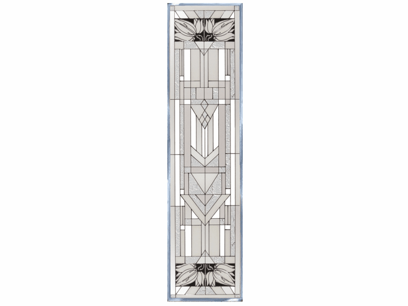 Mission Style Clear Stained Glass Art Glass