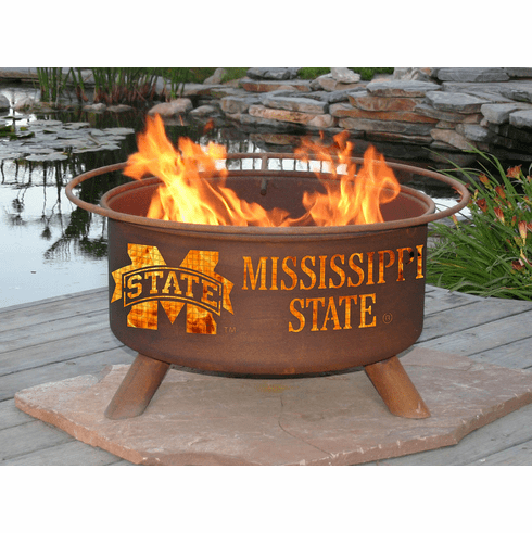 Mississippi State Bulldogs Logo Fire Pit Ring