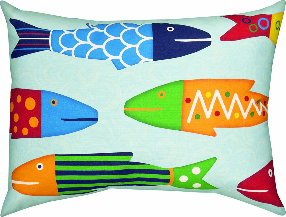 Missy Fishy School Climaweave Pillow