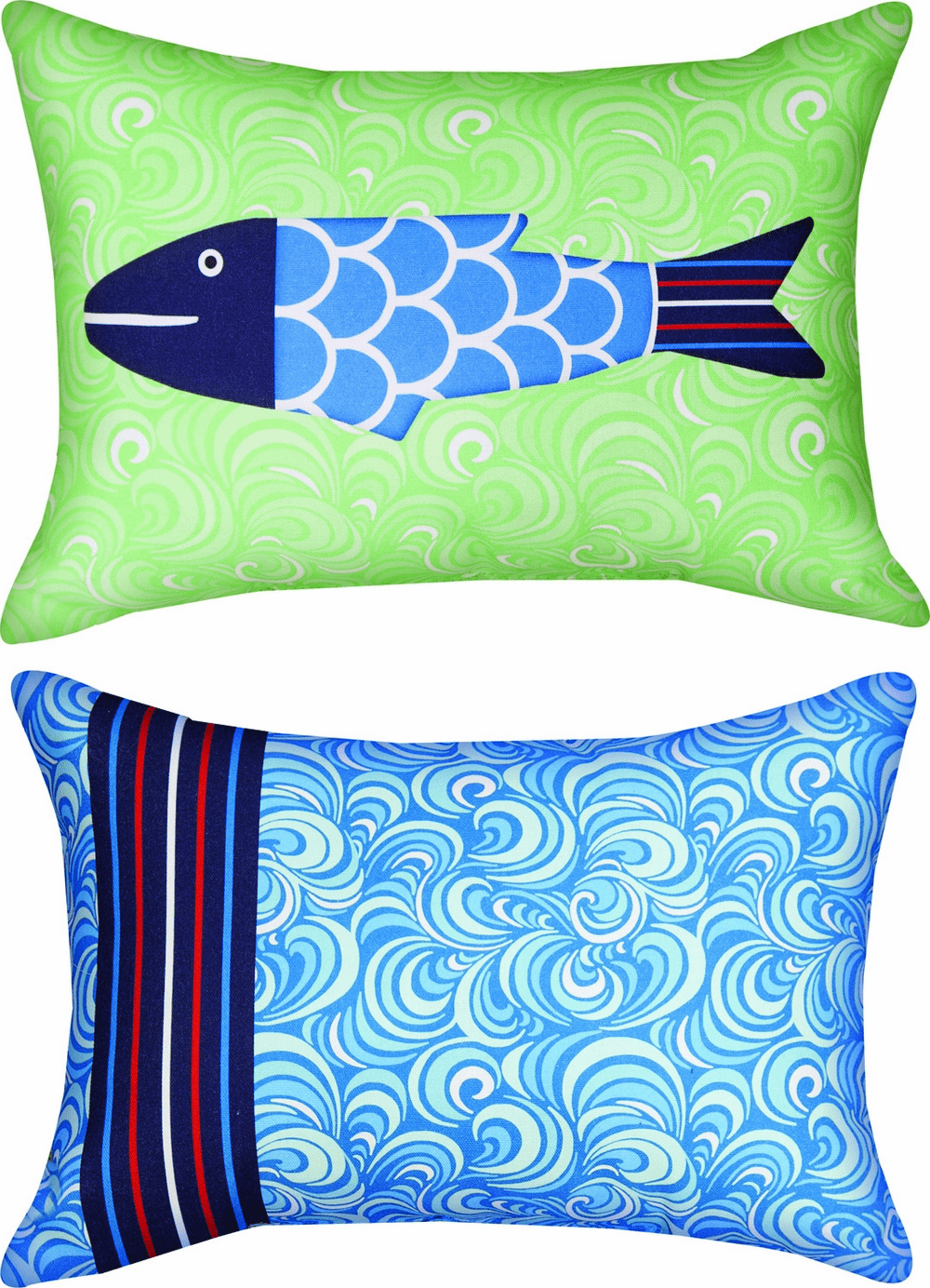 Missy Fishy Solo Knife Edge Climaweave Pillow