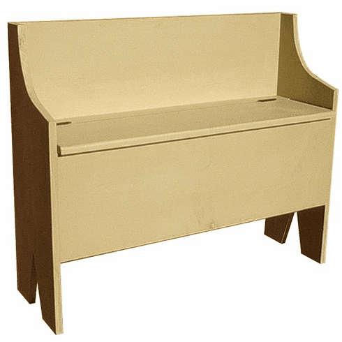 Modular Bench With Lift Up Seat and Storage, 36 inch wide