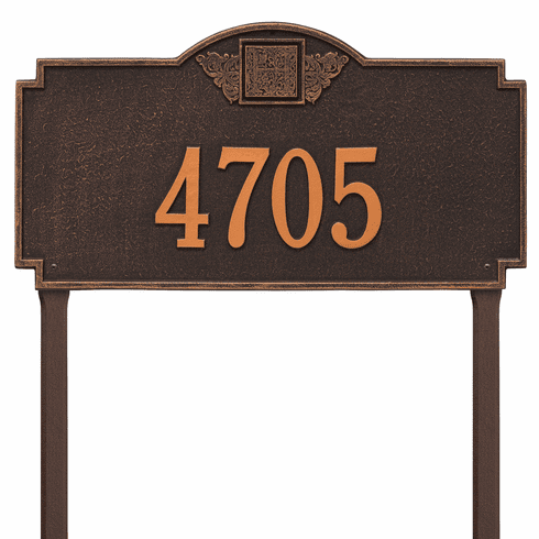Monogram Estate Lawn One Line Plaque in Oil Rubbed Bronze