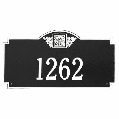 Monogram Estate Wall One Line Plaque in Black and White