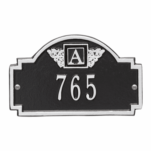Monogram Petite Wall One Line Plaque in Black and Silver