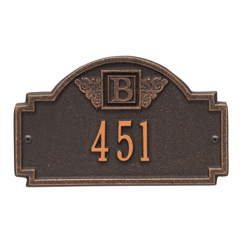 Monogram Petite Wall One Line Plaque in Oil Rubbed Bronze