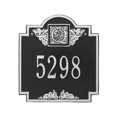 Monogram Standard Wall One Line Plaque in Black and Silver