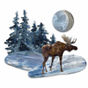Moonlit Moose Metal Wall Decor
