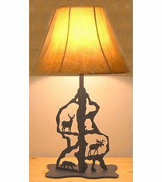 Moose, Bear and Deer Scenery Style Table Lamp