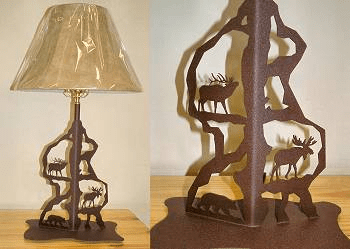 Moose, Bear and Elk Scenery Style Table Lamp