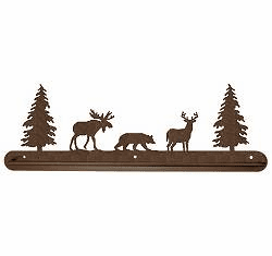 Moose, Bear, Deer Towel Bar