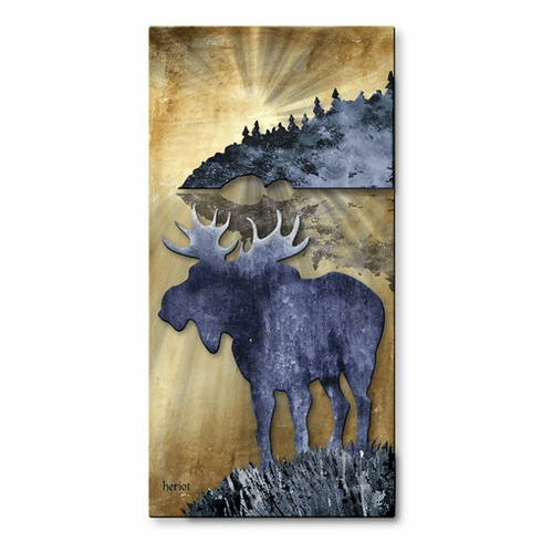 Moose by the Lake Wall Decor