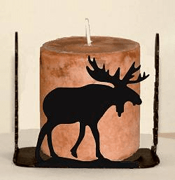 Moose Four Sided Candle Holder