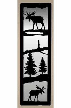 Moose Large Accent Mirror Wall Art