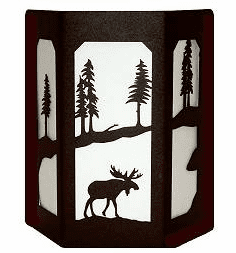 Moose Open Sides Sconce Wall Light