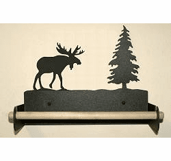 Moose Paper Towel Holder with Wood Bar